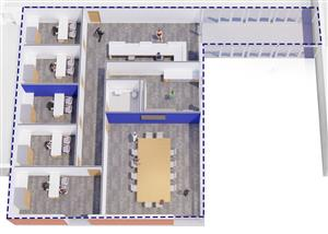 3D District Office Floorplan