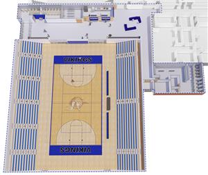 3D Athletics Floorplan