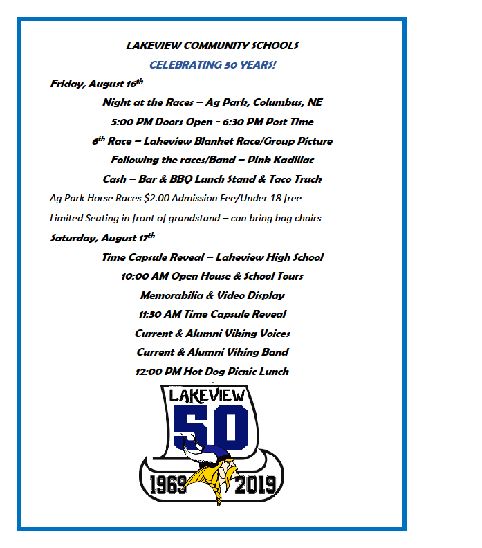 Lakeview's 50th Anniversary!